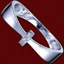 Prsten zlatý, diamanty, obroučka