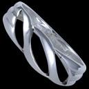 Prsten stříbrný, vlnky