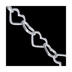 Řetízek na nohu, 7233-45 CHP heart chain