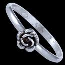 Prsten stříbrný, růžička