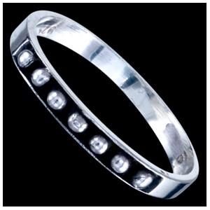 Prsten stříbrný, kuličky
