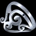 Prsten stříbrný, rostlinní motív