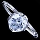 Prsten stříbrný, CZ, s kamínkem