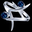 Prsten stříbrný, s perličkama