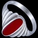 Prsten stříbrný, emailový, obloučik