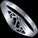 Prsten stříbrný, esíčka