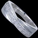Prsten stříbrný, CZ, obroučka