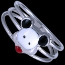 Set dětský, stříbrný, Mickey Mouse