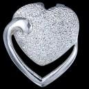 Přívěsek stříbrný, srdcia
