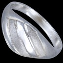 Prsten stříbrný, pásky