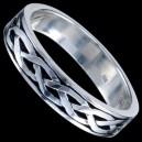 Prsten stříbrný, přeplétaný