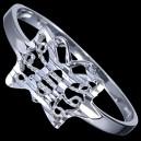 Prsten stříbrný, motýlek