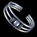 Prsten stříbrný, na nohu