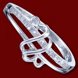 Prsten zlatý, diamanty, zásnubní, srdce