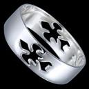 Prsten stříbrný, keltská obroučka