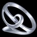 Prsten stříbrný, propletený