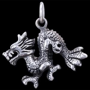 Přívěsek stříbrný, drak