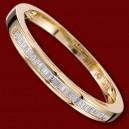 Prsten zlatý, diamanty, zásnubní, jednoduchý