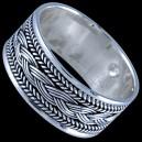 Prsten stříbrný, obroučka