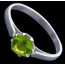 Prsten stříbrný, zirkon, klasický