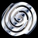 Prsten stříbrný, spirála