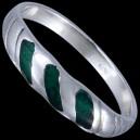 Prsten stříbrný, emailový