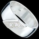 Prsten stříbrný, CZ, pavé