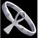 Prsten stříbrný, ankh