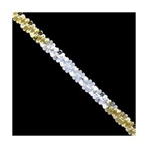 Náramek stříbrný, 3 color daisy chain