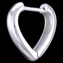 Náušnice stříbrné, srdce, 3x16