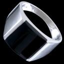 Prsten stříbrný, pečetní