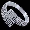 Prsten stříbrný, řecký design