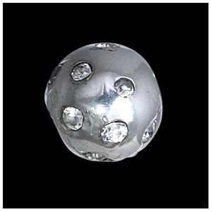 Přívěsek stříbrný, CZ, kulička