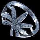 Prsten stříbrný, list