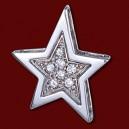 Přívěsek zlatý, diamanty, hvězdička